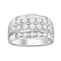 Picture of 2.00CT RD DIAMONDS SET IN 10KT WHITE GOLD MENS RING