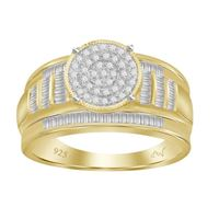 Picture of 0.50CT RD/BGT DIAMONDS SET IN SILVER YELLOW PLATED LADIES RING