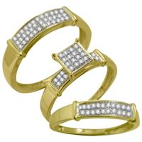 Picture of 0.25CT RD DIAMONDS SET IN 10KT YELLOW GOLD TRIO RING