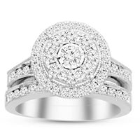 Picture of 1.50CT RD DIAMONDS SET IN 14KT WHITE GOLD LADIES BRIDAL SET