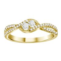 Picture of 0.25CT RD DIAMONDS SET IN 10KT YELLOW GOLD LADIES RIING