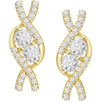 Picture of 0.20CT RD DIAMOND SET IN 10KT YELLOW GOLD LADIES EARRING