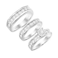 Picture of 0.33CT RD DIAMONDS SET IN 10KT WHITE GOLD LADIES TRIOS RING