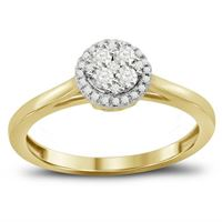 Picture of 0.25CT RD DIAMONDS SET IN 14KT YELLOW GOLD LADIES ROUND RING