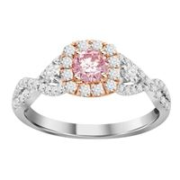 Picture of 1.00CT RD DIAMOND SET IN 14KT TT WHITE & PINK GOLD LADIES RING