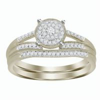 Picture of 0.20CT RD DIAMONDS SET IN 10KT WHITE GOLD LADIES BRIDAL RING