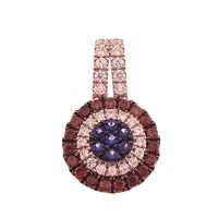 Picture of 0.75CT RD/BLUE/CHOCOLATE DIAMONDS SET IN 10KT ROSE GOLD LADIES PENDANT