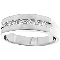 Picture of 0.15CT RD DIAMONDS SET IN 14K WHITE MACHINE SET MENS BAND