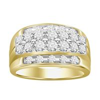 Picture of 2.00CT RD DIAMONDS SET IN 10KT YELLOW GOLD MENS RING