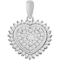 Picture of 0.20CT RD DIAMONDS SET IN 10KT WHITE GOLD LADIES PENDANT