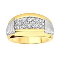 Picture of 1.00CT RD DIAMONDS SET IN 10KT TT WHITE & YELLOW GOLD MENS BAND