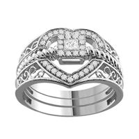 Picture of 0.25CT RD/PC DIAMONDS SET IN SILVER LADIES RING