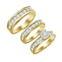 Picture of 0.33CT RD DIAMONDS SET IN 10KT YELLOW GOLD LADIES TRIOS RING