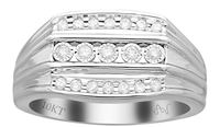 Picture of 0.25CT RD DIAMONDS SET IN 10KT WHITE GOLD MENS RING