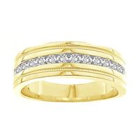 Picture of 0.25CT RD DIAMONDS SET IN 14K YELLOW GOLD MACHINE SET MENS BAND