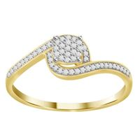 Picture of 0.15CT RD DIAMONDS  SET IN 10K YELLOW GOLD LADIES RING