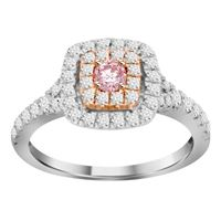 Picture of 0.70CT RD/ROSE DIAMONDS SET IN 14KT WHITE & ROSE GOLD LADIES RING