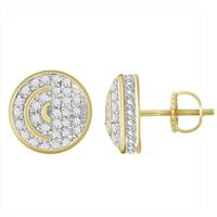 Picture of 0.20CT RD DIAMONDS SET IN SILVER YELLOW GOLD PLATED LADIES EARRING