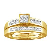 Picture of 0.50CT RD/PC DIAMONDS SET IN 10KT YELLOW GOLD LADIES BRIDAL SET