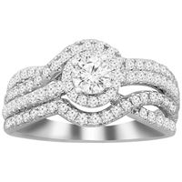 Picture of 1.00CT RD DIAMONDS CNTR-0.30CT SET IN 14KT WHITE GOLD LADIES RING