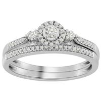 Picture of 0.25CT RD DIAMONDS SET IN 10K WHITE GOLD LADIES BRIDAL RING