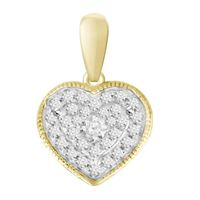 Picture of 0.10CT RD DIAMONDS SET IN 10KT YELLOW GOLD LADIES PENDANT