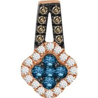Picture of 0.50CT RD/BLUE/CHOCOLATE DIAMONDS SET IN 10KT ROSE GOLD LADIES PENDANT