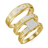 Picture of 0.30CT RD DIAMONDS SET IN 10KT YELLOW GOLD LADIES TRIO SET