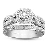 Picture of 0.25CT RD DIAMONDS SET IN SILVER LADIES BRIDAL RING