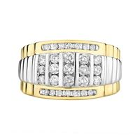 Picture of 1.00CT RD DIAMONDS SET IN 10KT WHITE & YELLOW GOLD MENS RING