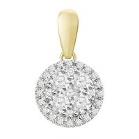 Picture of 0.25CT RD DIAMONDS SET IN 14K YELLOW GOLD LADIES PENDANT