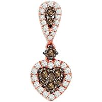 Picture of 0.50CT RD/CHOCOLATE DIAMONDS SET IN 10KT ROSE GOLD LADIES PENDANT