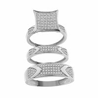 Picture of 0.50CT RD DIAMOND SET IN 10KT WHITE GOLD LADIES TRIO RING