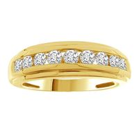 Picture of 0.50CT RD DIAMONDS SET IN 10KT YELLOW GOLD LADIES BAND