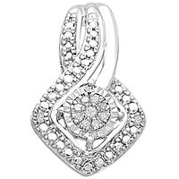 Picture of 0.05 CT ROUND DIAMOND SET IN 10 KT WHITE GOLD LADIES PENDENTS