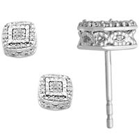 Picture of 0.10CT ROUND DIAMOND SET IN 10K WHITE GOLD LADIES EARRINGS