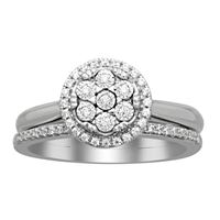 Picture of 0.20CT ROUND DIAMOND SET IN 14KT WHITE GOLD LADIES BRIDAL SET