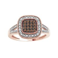 Picture of 0.20CT RD/CHOCO DIAMOND SET IN 10KT ROSE GOLD LADIES RING