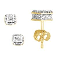 Picture of 0.10CT ROUND DIAMOND SET IN 10K YELLOW GOLD LADIES EARRINGS
