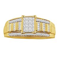 Picture of 0.50CT RD/BGT DIAMONDS SET IN 14KT YELLOW GOLD LADIES RING