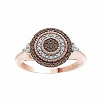 Picture of 0.25CT RD/ CHOCO DIAMONDS SET IN 10KT ROSE GOLD LADIES RING