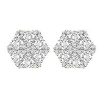 Picture of 2.00CT RD DIAMONDS SET IN 14KT YELLOW GOLD LADIES EARRING