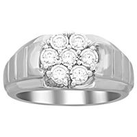 Picture of 0.50CT RD DIAMONDS SET IN SILVER MENS RING