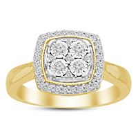 Picture of 0.25CT RD DIAMONDS SET IN 10KT YELLOW GOLD LADIES RING