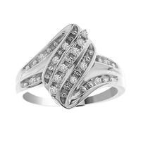 Picture of 0.10CT RD DIAMONDS SET IN 10KT WHITE GOLD LADIES RING