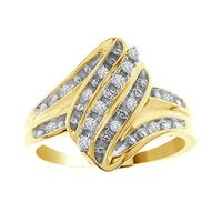 Picture of 0.10CT RD DIAMONDS SET IN 10KT YELLOW GOLD LADIES RING