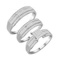Picture of 0.45CT RD DIAMONDS SET IN SILVER LADIES TRIO RING