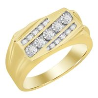 Picture of 0.25CT RD DIAMONDS SET IN 10KT YELLOW GOLD MENS RING
