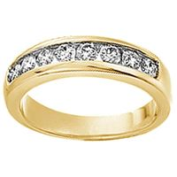 Picture of 1.00CT RD DIAMONDS SET IN 14K YELLOW GOLD MEN'S BAND