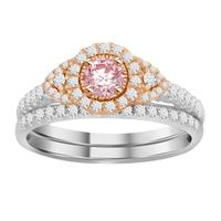 Picture of 0.75CT RD/ROSE DIAMONDS SET IN 14KT TT WHITE & ROSE GOLD LADIES RING